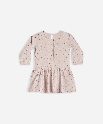 Mini stars button up jersey dress