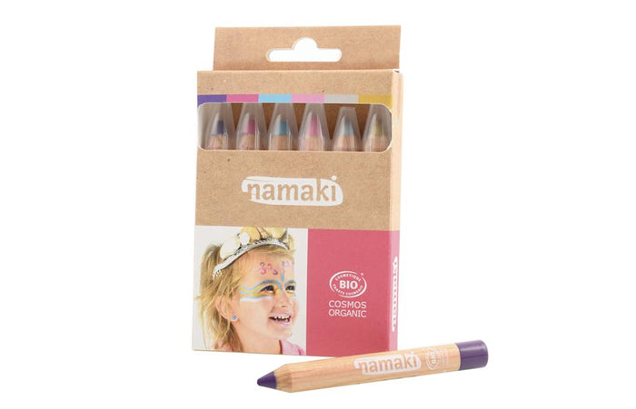 Set of 6 Color Pencils (Gold/Silver/Pink/Turquoise/Purple/Fuchsia)