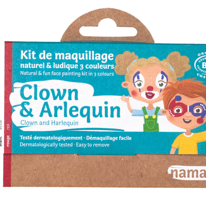 3 colors face painting kit « Clown & Harlequin »