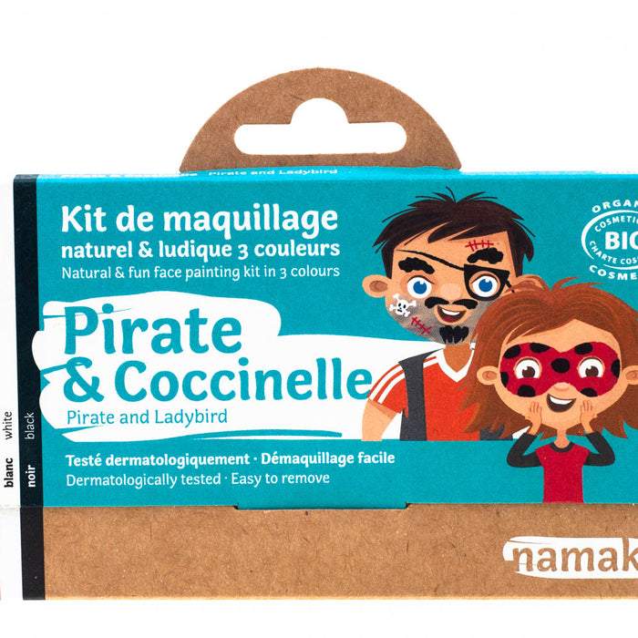 3 colors face painting kit « Pirate & Ladybird »