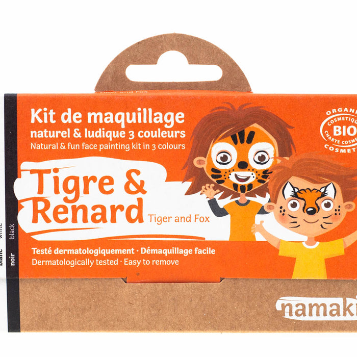 3 colors face painting kit « Tiger & Fox »