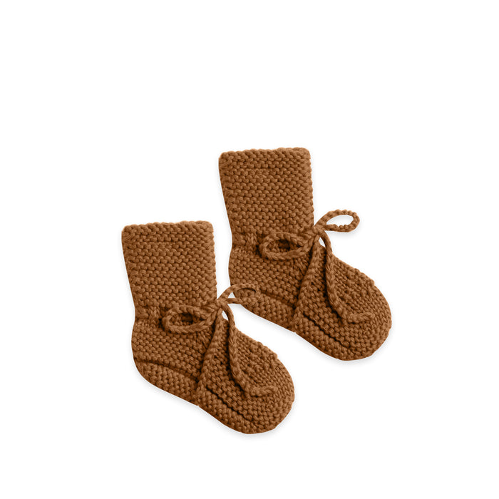 Knit Booties Walnut