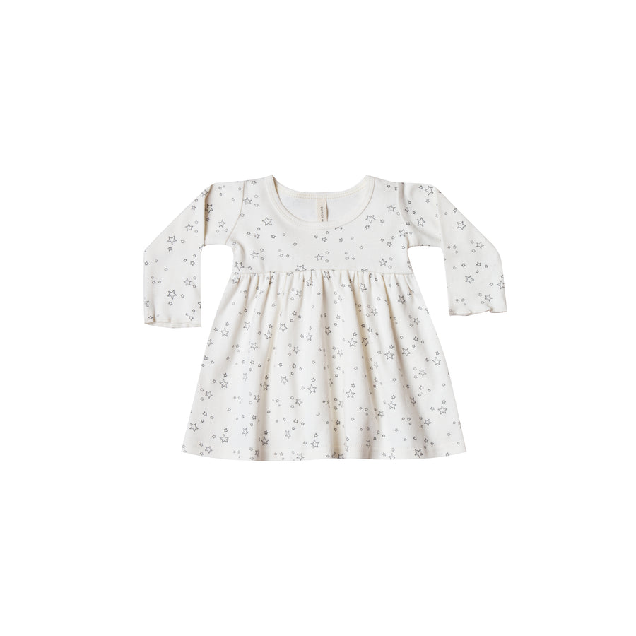Longsleeve Baby Dress Ivory