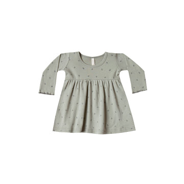 Longsleeve Baby Dress Sage