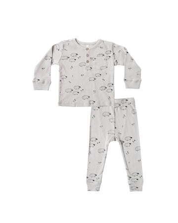 Sheep ribbed pyjama set