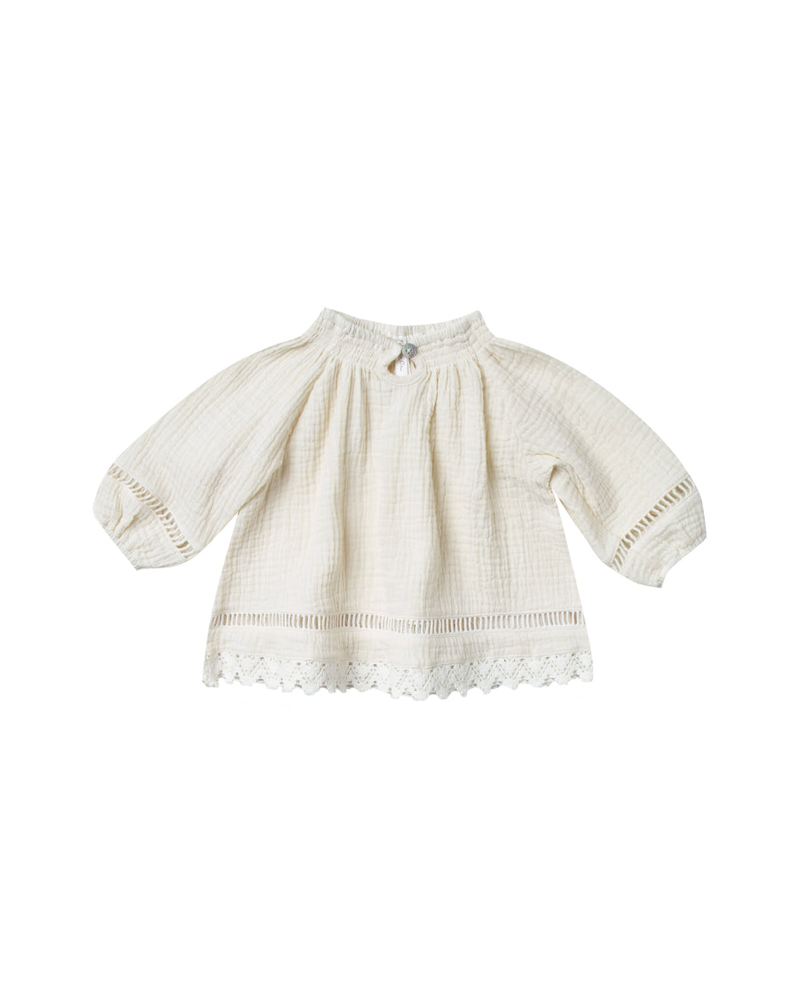 Ivory quincy blouse