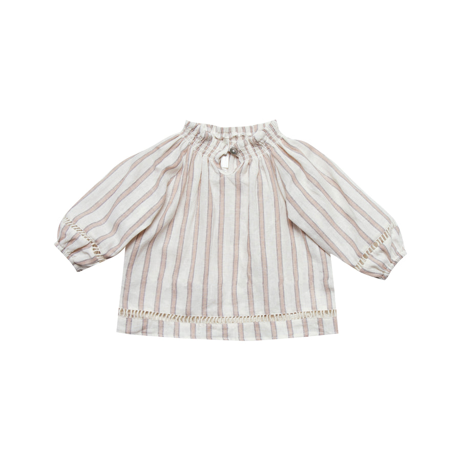 Stripe Quincy Blouse Truffle