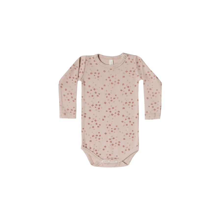 Ribbed Longsleeve Onesie Rose