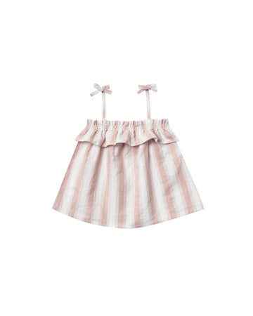 Ruffle Tube Top - Petal Stripe