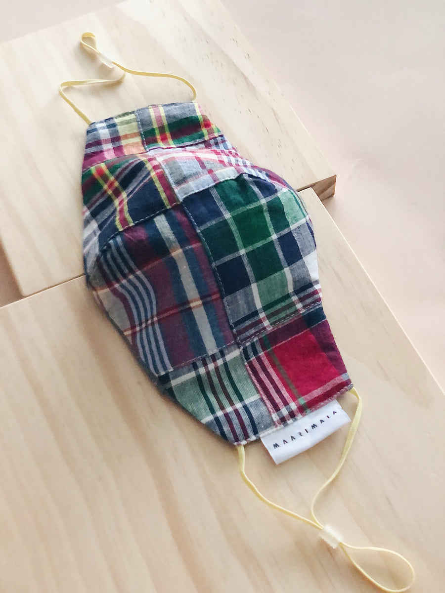 Cotton Face Mask | Patchwork Check