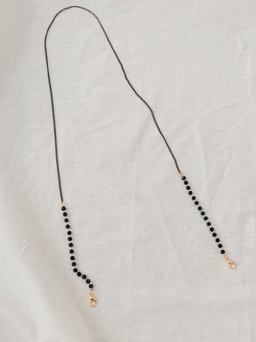 Mask Chain Necklace | Black with Black Bead