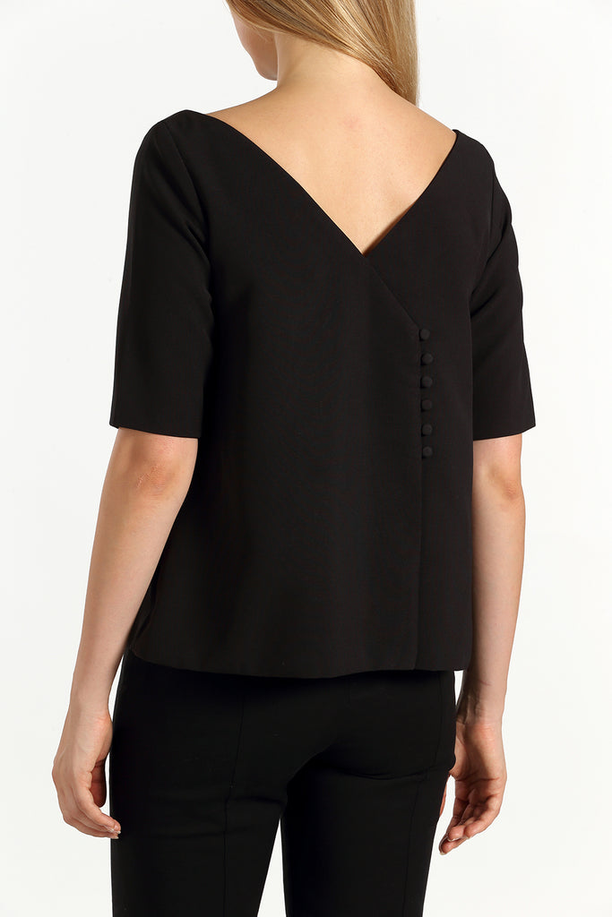 Envelope Back Top | Black
