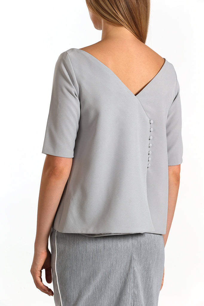 Envelope Back Top | Grey