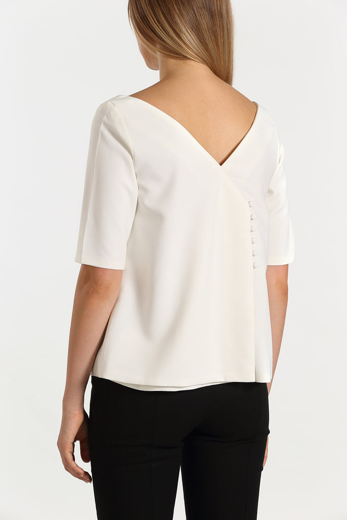 Envelope Back Top | White