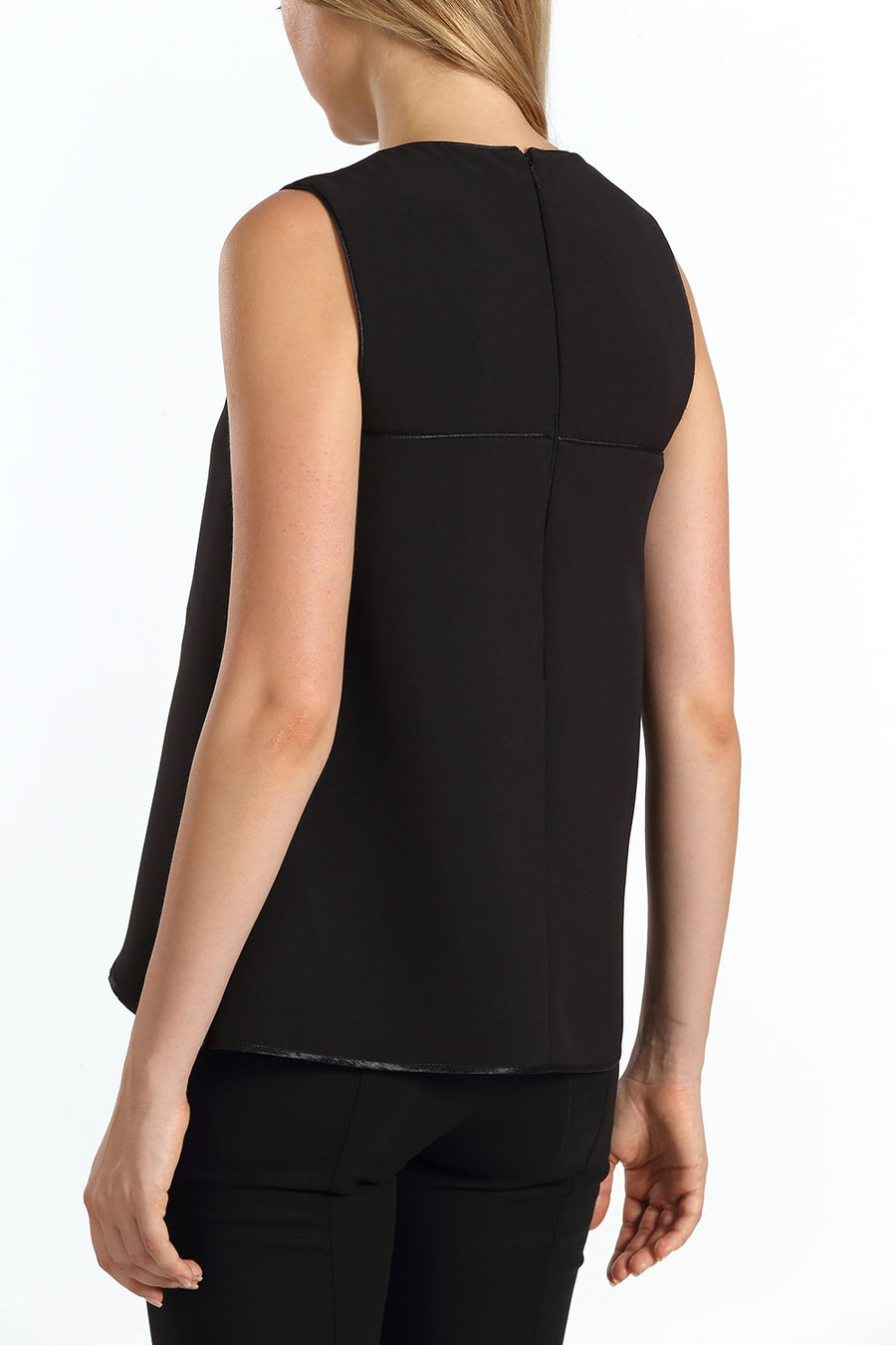 Sleeveless Binded Top | Black
