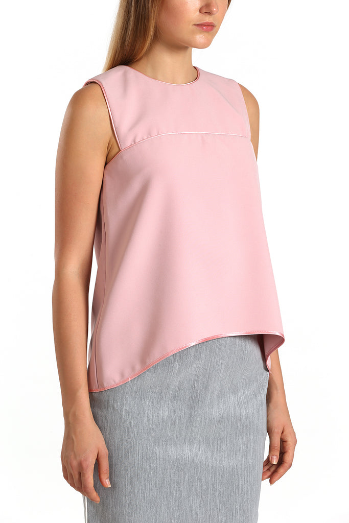 Sleeveless Binded Top | Pink