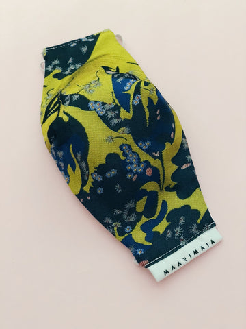 Brocade Face Mask | Mustard Yellow Chinoiserie