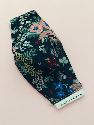 Brocade Face Mask | Navy Multicolour Floral