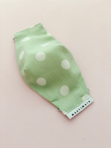 Cotton Face Mask | Mint Polka Dot