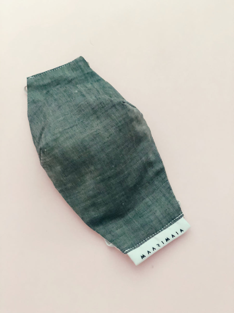 Cotton Face Mask | Handwoven Grey Plain