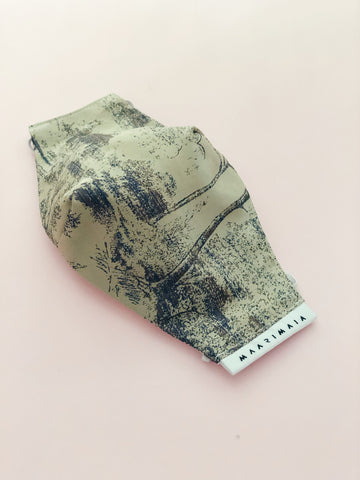 Brocade Face Mask | Brown Chinoiserie