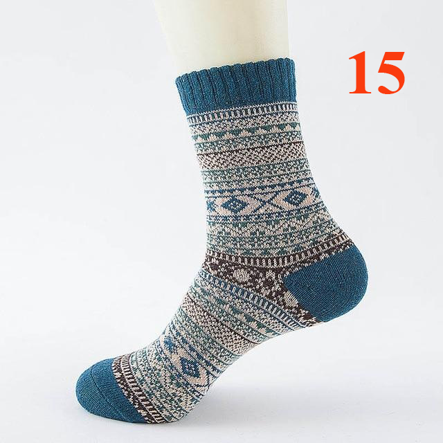 Winter Thick Warm Stripe Wool Socks Business For Men