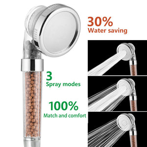 Shower Head With Negative Ion Activated Ceramic Balls