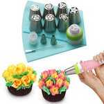 13PCS Pastry Nozzles And Coupler Icing Piping Tip Sets