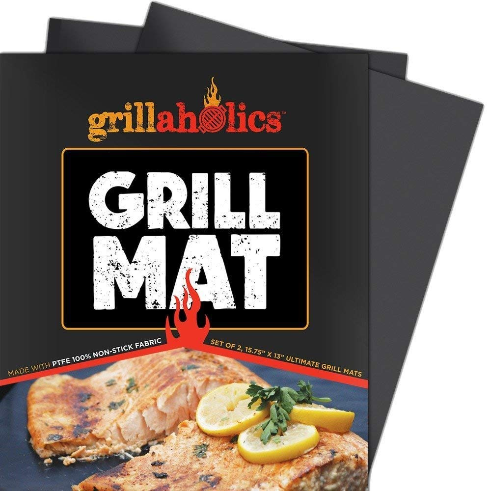 Set of 2 Heavy Duty BBQ Grill Mats - Non Stick