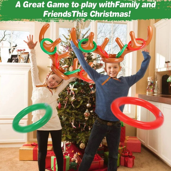 CHRISTMAS SALE - 50% OFF - Christmas Reindeer Antler Ring Toss Game