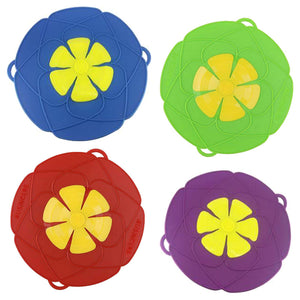 Multi-Function Silicone Lid Spill Stopper Cover For Pot Kitchen