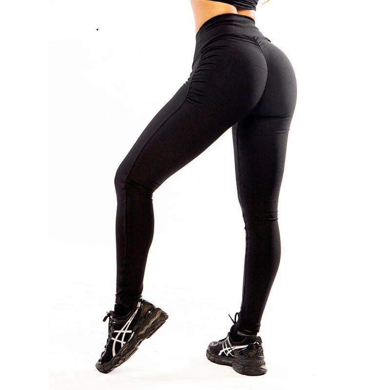 Women Push Up Leggings Black Slim