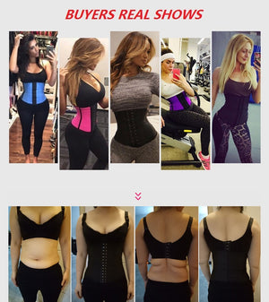 Women's Latex Sport Girdle Waist Training Corset Waist Body Shaper