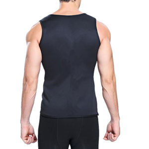 Body Shaper Mens Sauna Vest Neoprene Hot Sweatshirt Tummy Control Slimming