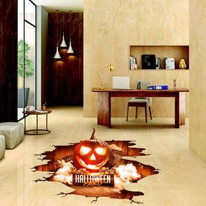 Halloween 3D Stickers View Scary Pumpkin Shaped