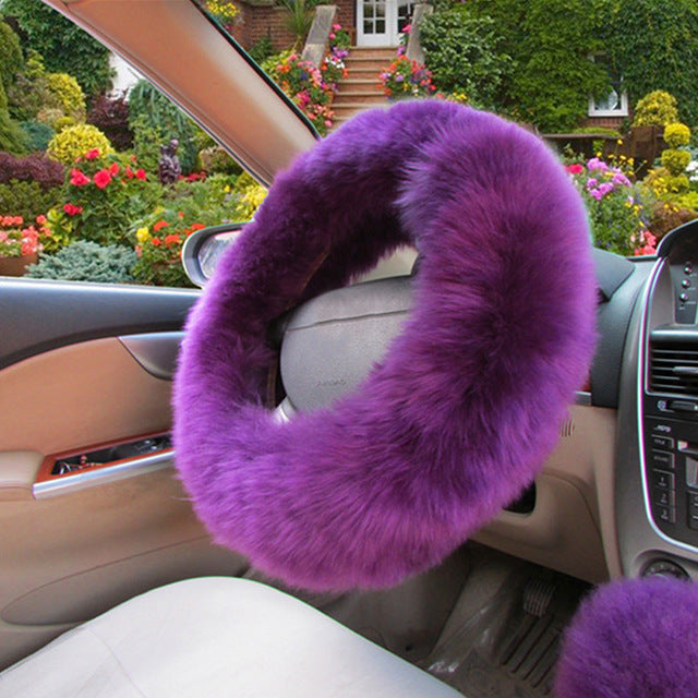 Furry Steering Wheel Cover (Set of 3)