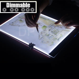 Dimmable! Ultrathin A4 LED Light Tablet Pad