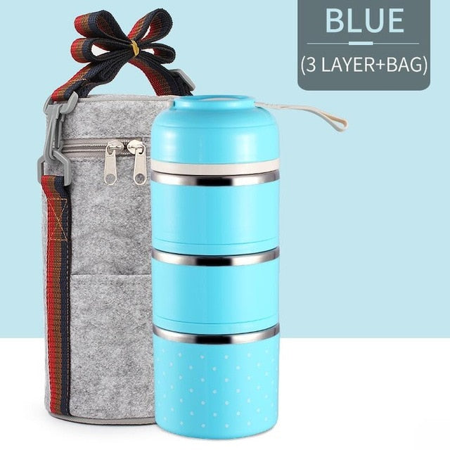 Stackable Stainless Steel Thermal Lunch Box