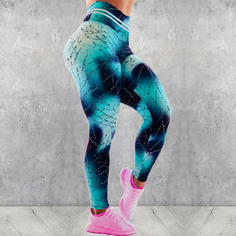 Printed High Waist Fitness Leggings