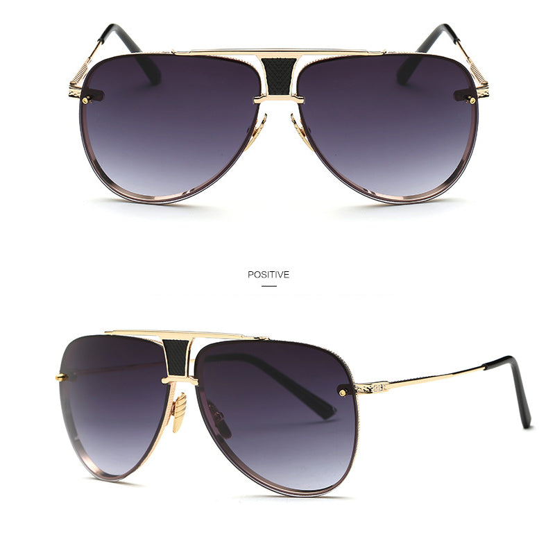 High-Quality Square Luxury Gradient Lens Sunglasses