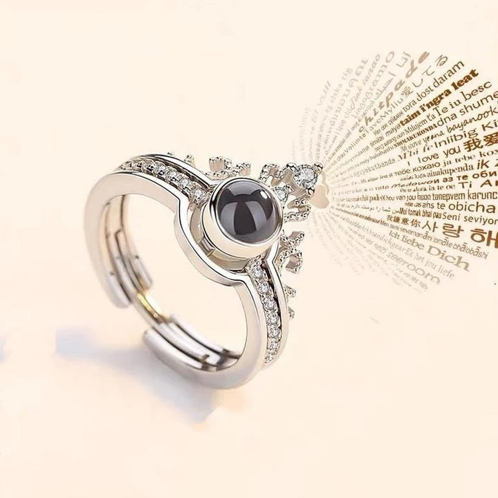 "100 Languages ""I LOVE YOU"" Ring,Necklace(Ring is adjustable)"