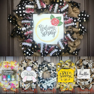 Spring Burlap Wreath & Sign Class