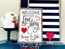 Welcome to Our Love Story Kit