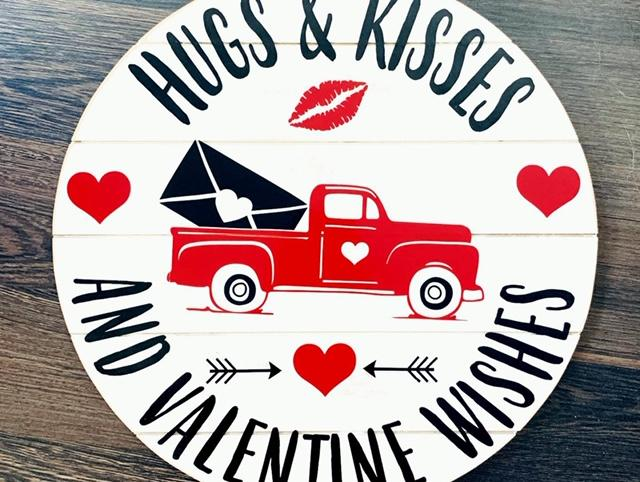 Hugs & Kisses and Valentine Wishes