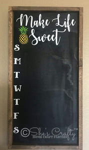 Make Life Sweet Chalkboard Menu Kit