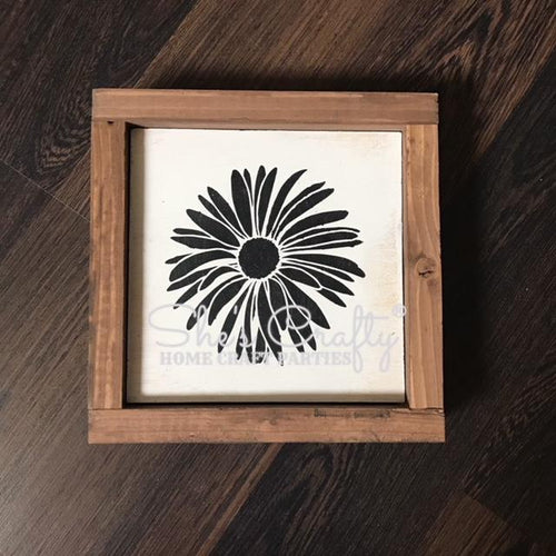 Spring Daisy Silhouette