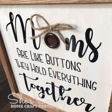 Moms are like buttons Sign