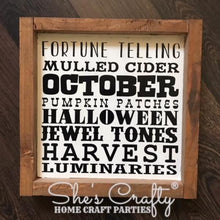 Monthly Mini October Subway Art Kit