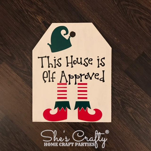This House is Elf Approved Door Tag Kit