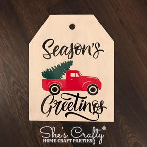 Season's Greetings Vintage Truck Door Tag Kit